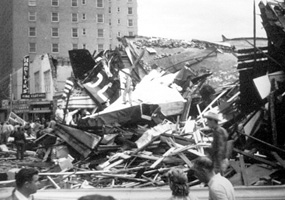 Picture of Waco after Tornado Hit on May 11, 1953