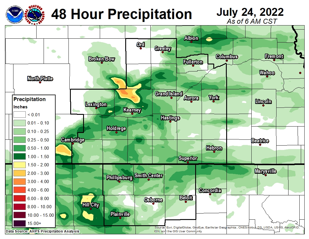 Daily Precipitation Maps on