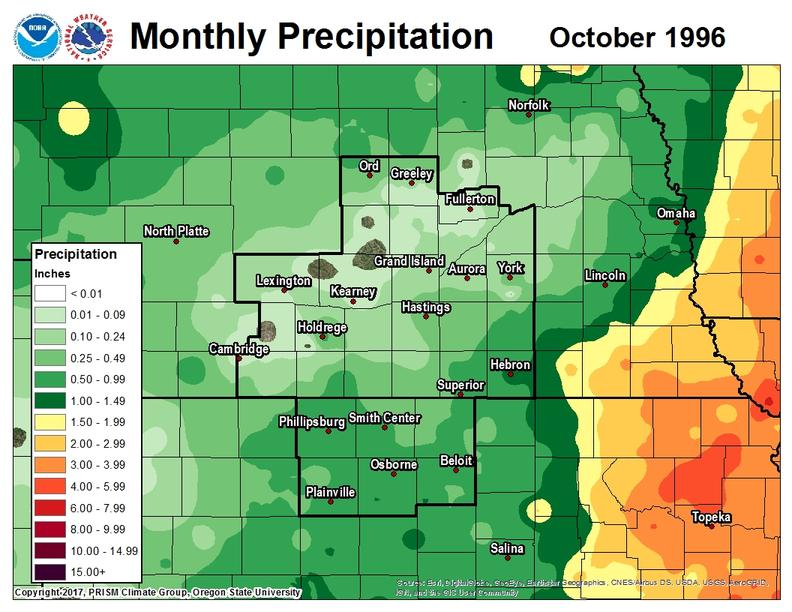 1996 monthly precipitation maps