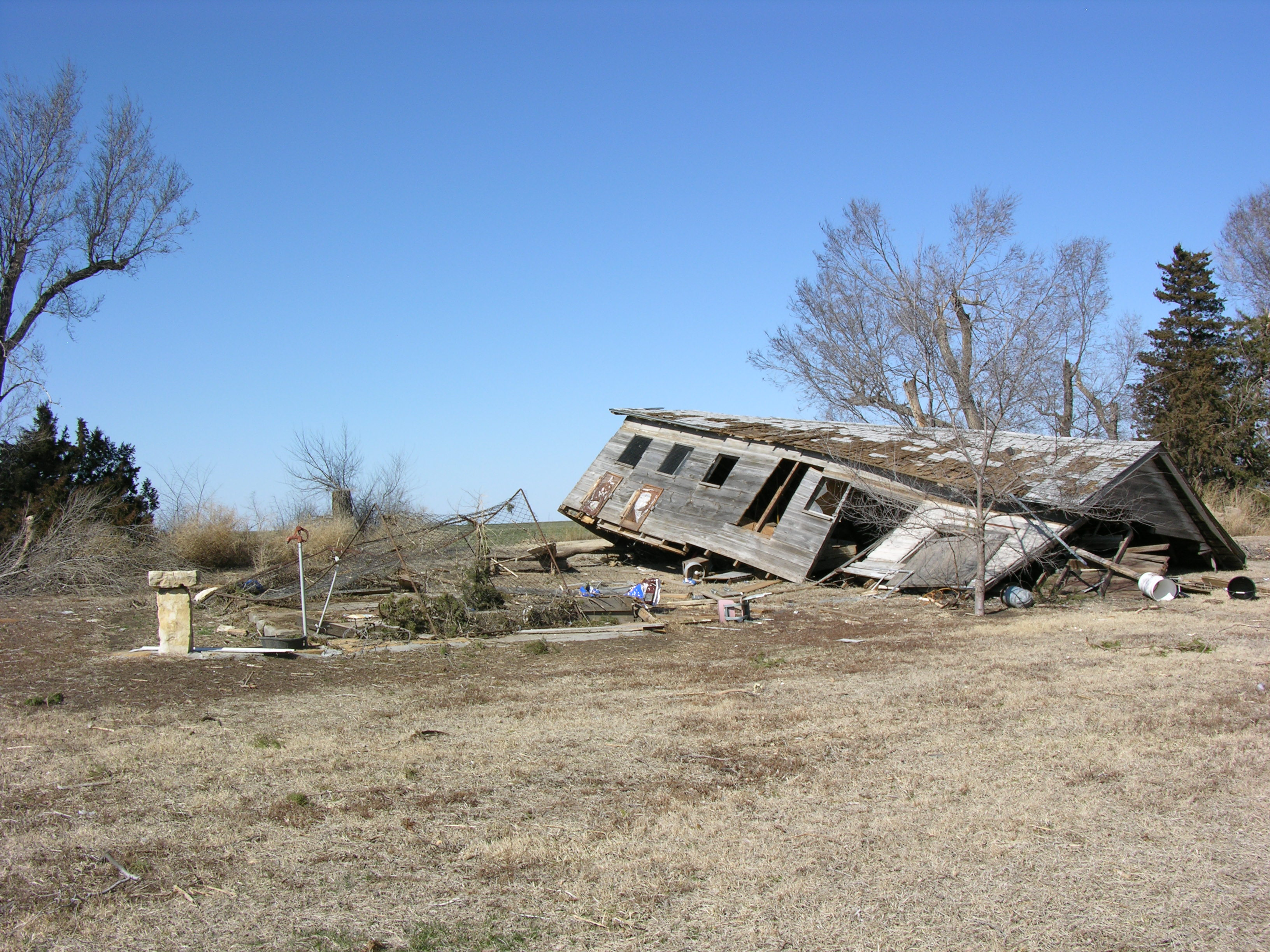 Kansas jewell county randall - Barn Displaced From Foundation As A Reult Of An Ef0 Tornado In Jewell County Kansas On