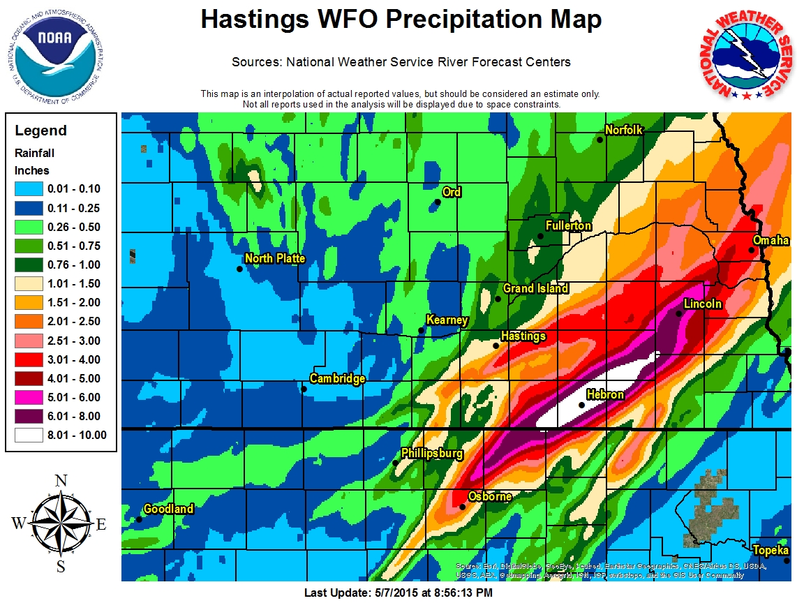 Kansas jewell county randall - Forecast Area Centric Precipitation Map