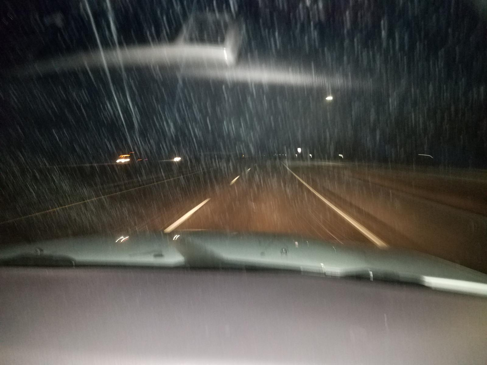 Snowing west of Rifle (westbound)