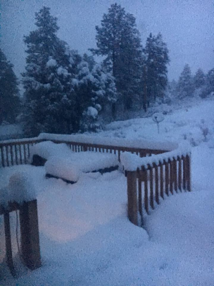 Heavy snow in Pagosa Springs, CO