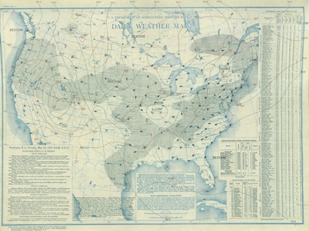 May 30, 1935 Surface Map
