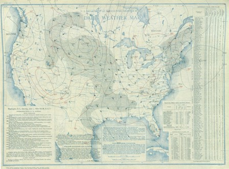 June 1, 1935 Surface Map