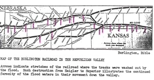 Map of Railroad Track Damage