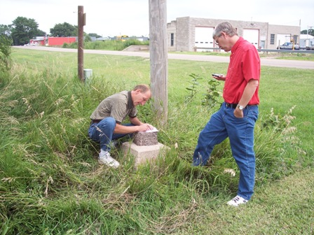 Marking location of Bartley, NE High Water Mark