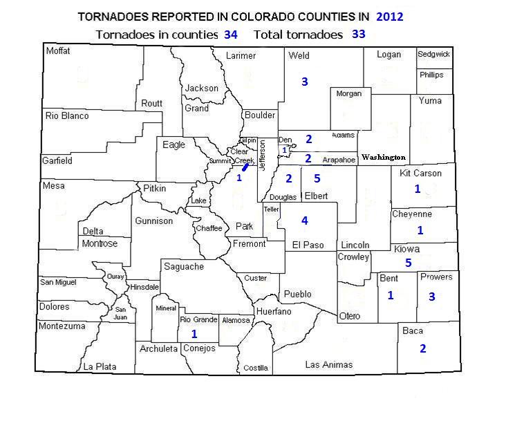 Colorado Tornado Information