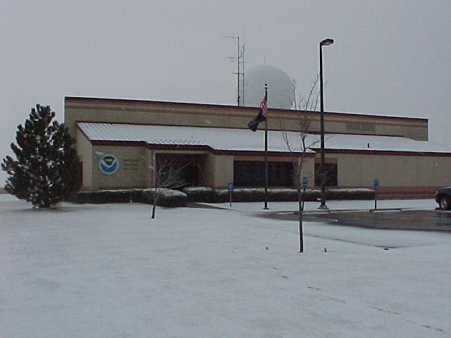 Goodland office in winter