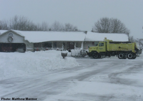 Snow removal near Chilton.