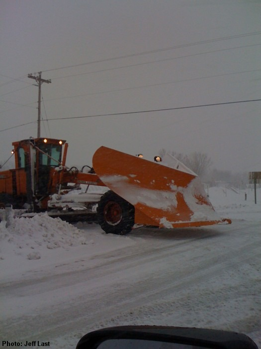 Plowing out De Pere.