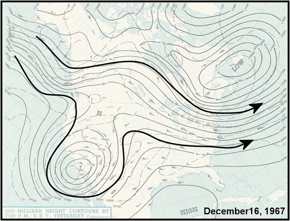 Upper air chart for December 16, 1967