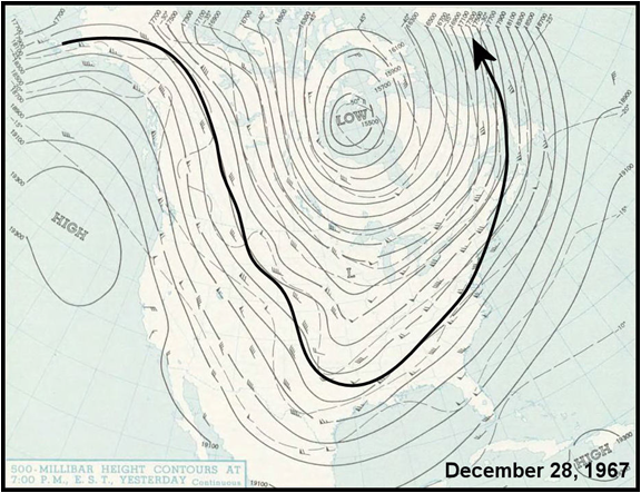 Upper air chart for December 28, 1967