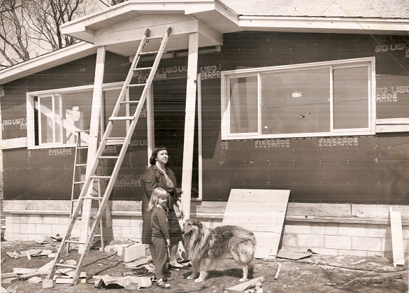 The Bolt home after the tornado of April 11, 1965
