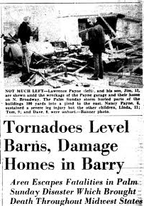 One article in the Hastings Banner about the tornado of April 11, 1965