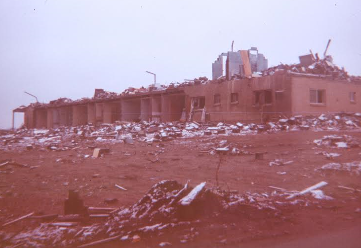 Picture Showing Swan Inn Damage after April 11 1965 tornado