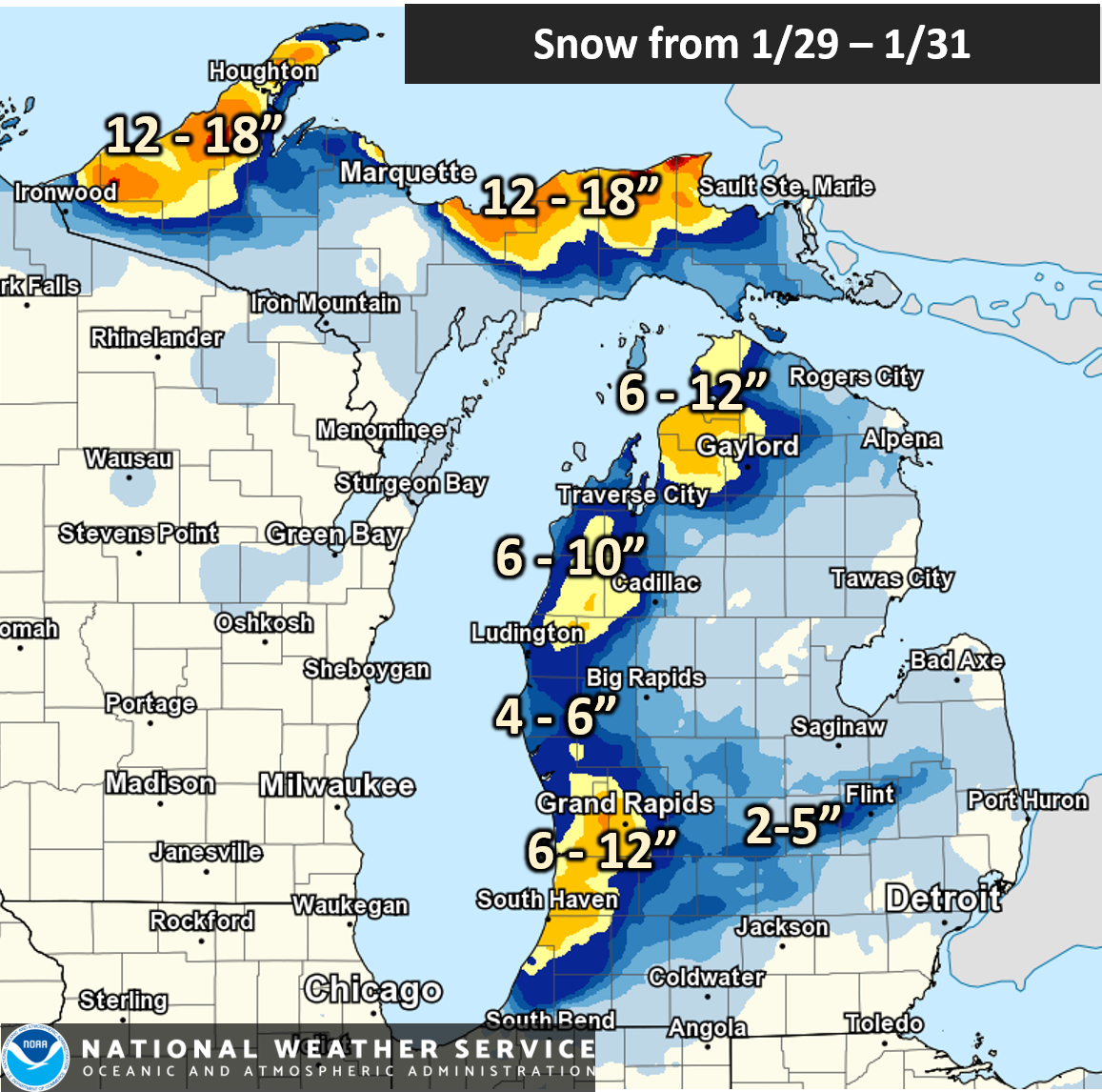 January 28 - 31, 2019: Days of Snow, Low Visibility, and