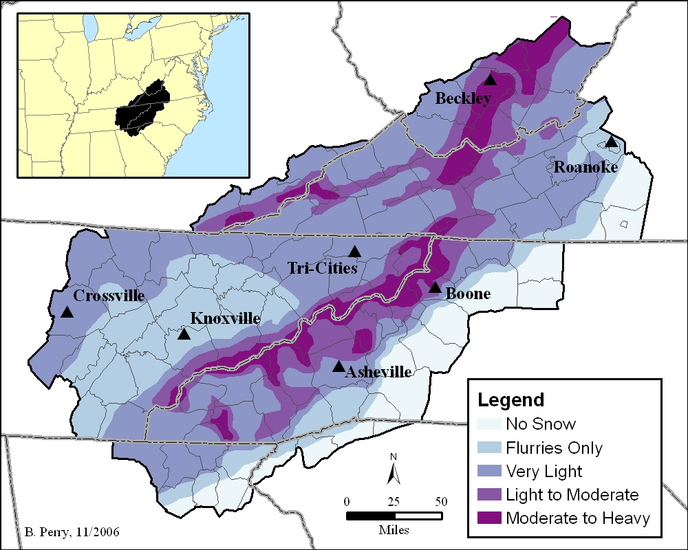 Dr Driving 3 >> Northwest Flow Snow in the Southern Appalachians