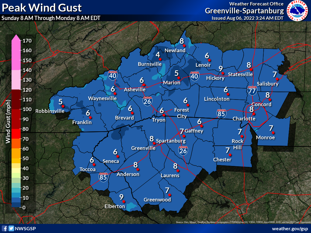Day 2 Maximum Wind Gusts