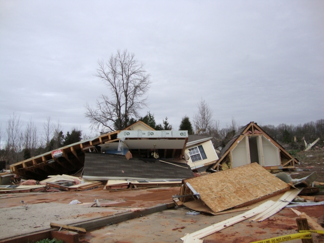 Damage from the Harrisburg Tornado on 3 March 2012