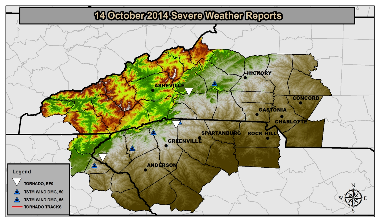 Storm reports for 14 October 2014