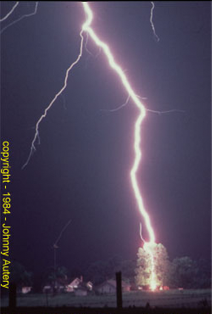 Lightning Typically Strikes The Tallest Object Beneath A Storm Photo Courtesy Of Johnny Autery