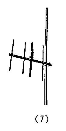 sketch denoting a commercially available directional antenna or vertically mounted TV antenna to improve weather radio                  reception