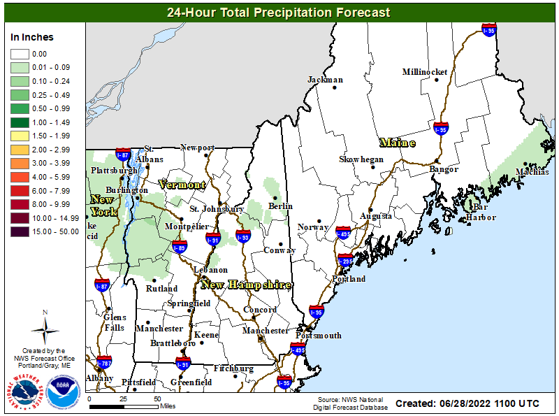 24hr Forecasted QPF