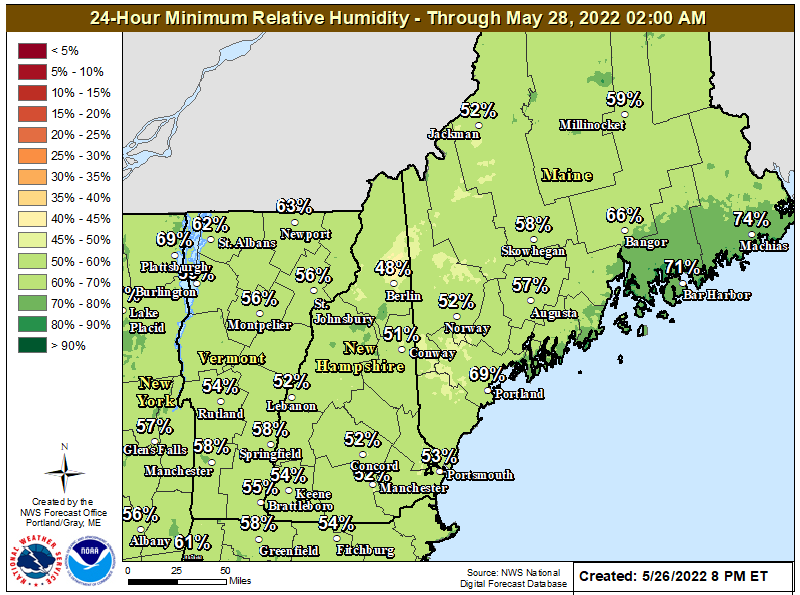 24 Hour Day 2 Minimum Relative Humidity