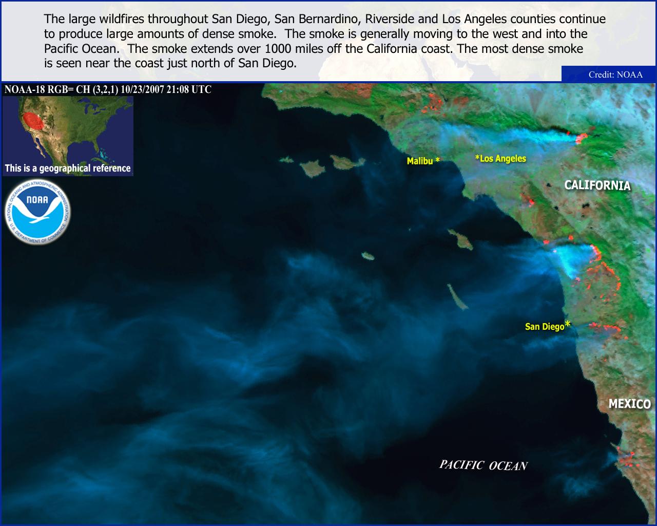 Hazy Hawaiian Skies due to California Wildfires on