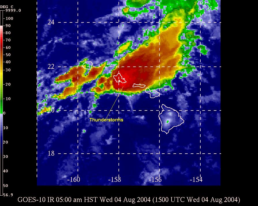 Oahu Weather Radar Map Excessive Rainfall from the Remnants of Darby 2004