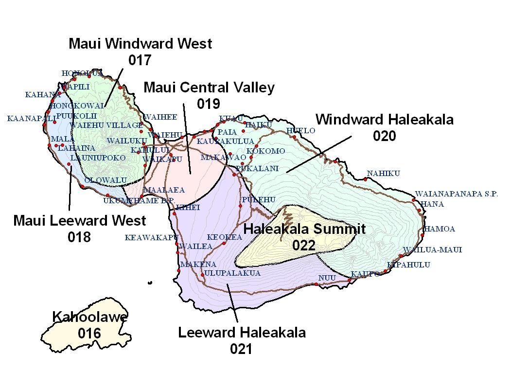 Maui Weather Map Forecast Area Map