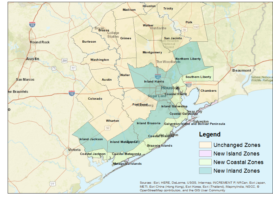 Houston/Galveston Zone Changes for 2018 on new york city flood zone map, baytown flood zone map, surfside beach flood zone map, galveston county floodplain maps, colorado flood zone map, galveston county texas, jersey village flood zone map, amarillo flood zone map, caddo parish flood zone map, galveston county area zip codes, pearland flood zone map, galveston flood zone chart, waco flood zone map, palm springs flood zone map, orange county floodplain map, fresno flood zone map, shreveport flood zone map, texas flood zone map, fort worth flood zone map, port arthur flood zone map,
