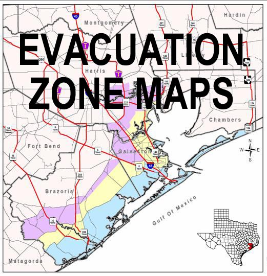 Zip Zone Evacuation Map