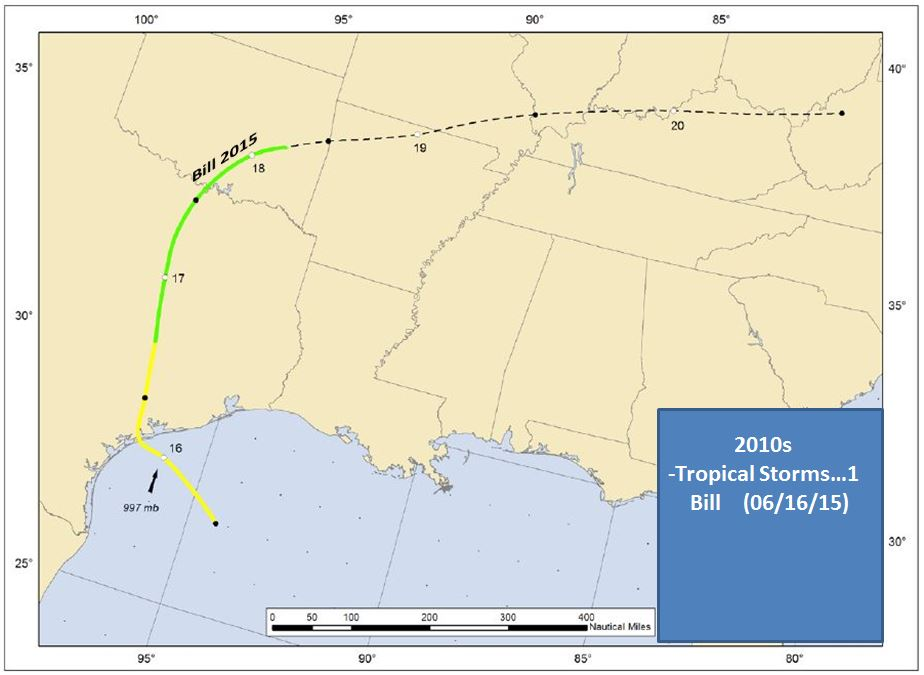 Upper Texas Coast Tropical Cyclones In The 2010s