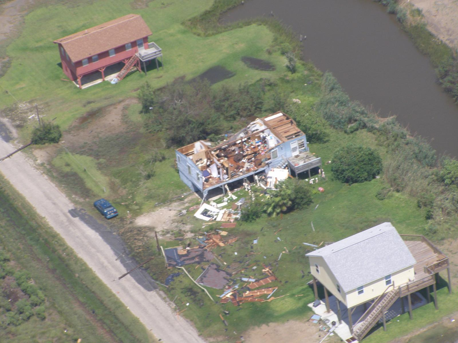 Hurricane Humberto High Is Canal City Damage