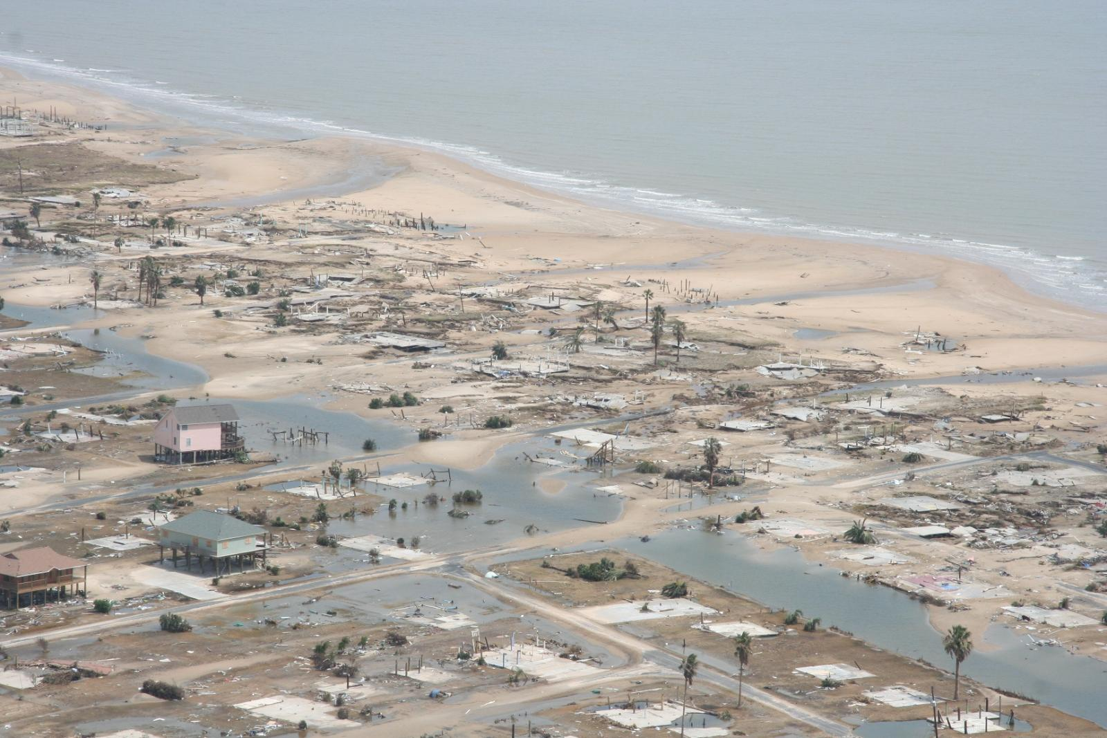 Bolivar Peninsula Damage