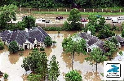 Flooding in Friendswood (Harris County) during Tropical Storm Allison, June 2001.