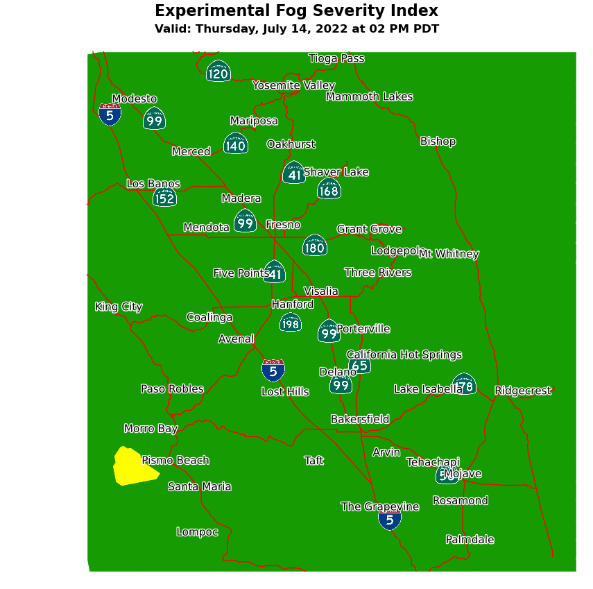 Experimental Fog Severity Index
