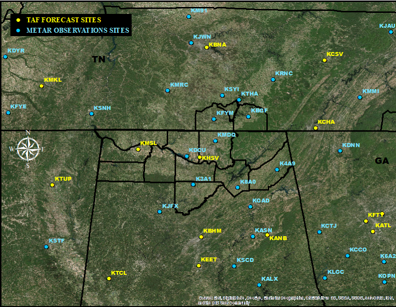 Huntsville Weather Map.Nws Huntsville Aviation Weather Page