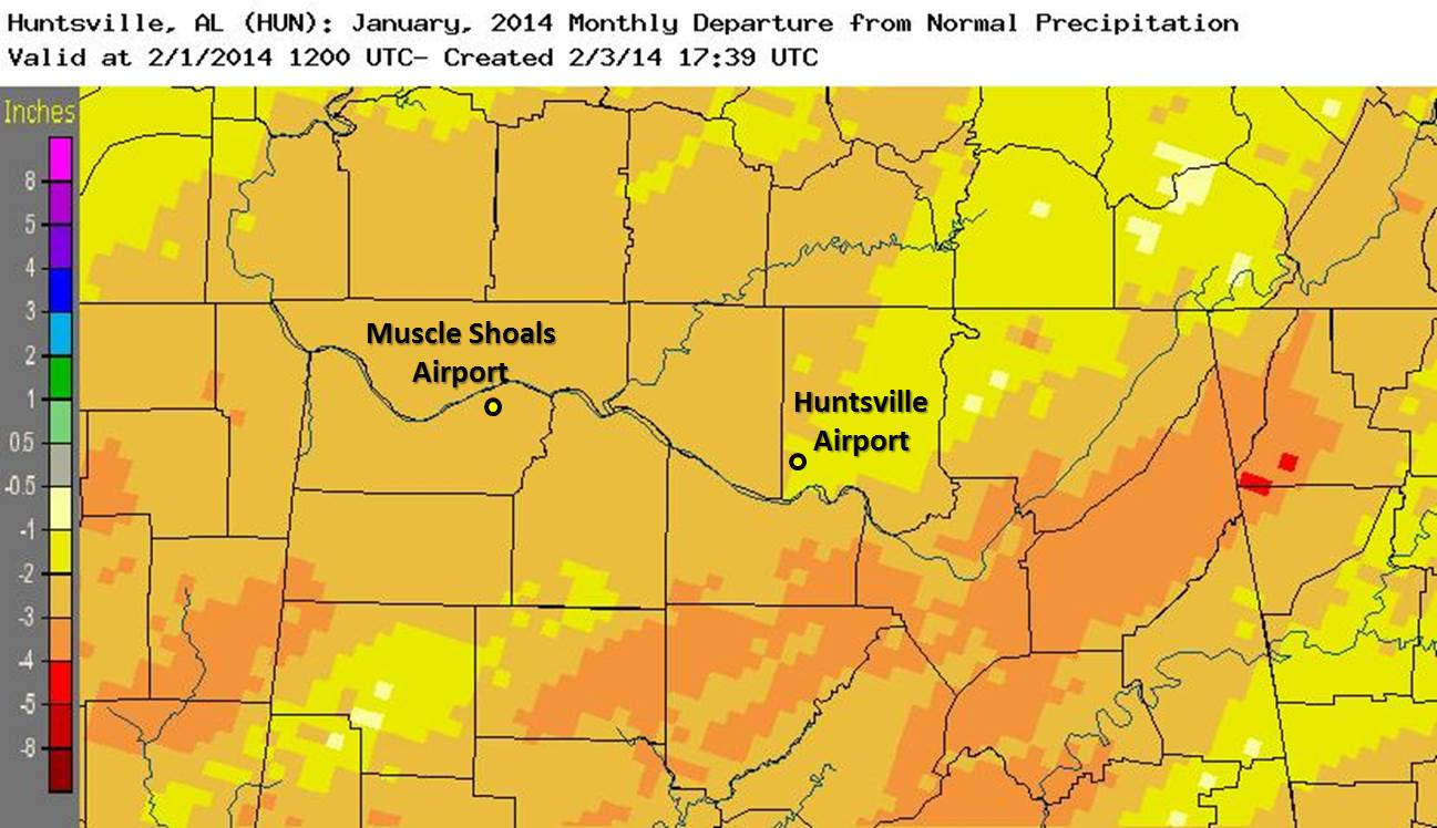 Estimated precipitation anomalies - click on the image for a larger version