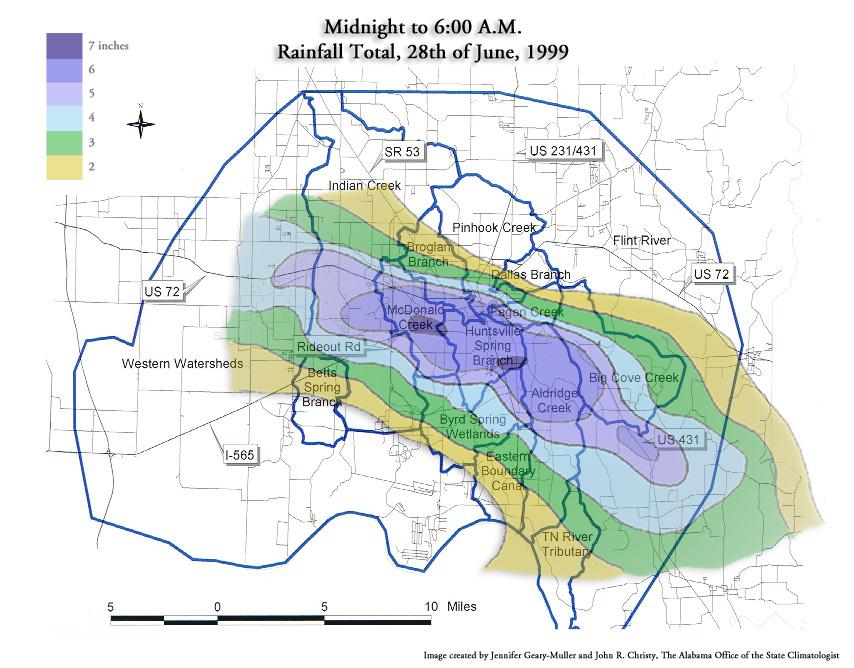 June 28th 1999 Huntsville Flash Flood