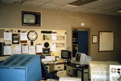 Inside the Huntsville WSO, after responsibilities were transferred to Birmingham, and before the new forecast office was opened.