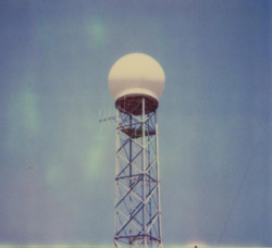 The Huntsville WSR-74C radar, as it stood at Huntsville International Airport