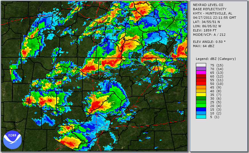 Huntsville Weather Map.Ef5 Tornado Track Franklin Al To Franklin Tn