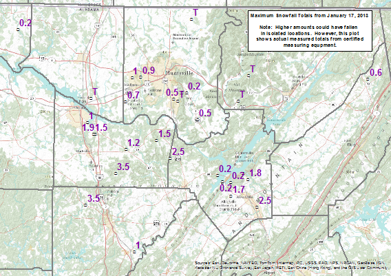 January 17 2013 Snow Reports