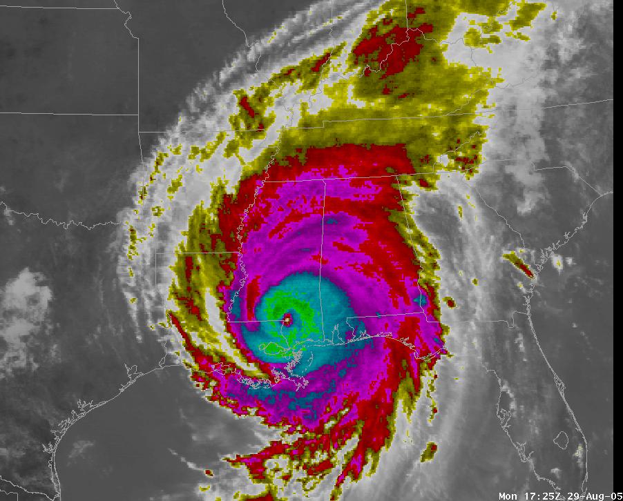 Are You Ready for this Summer's Hurricane Season ...  Hurricane Katrina Satellite Thermal