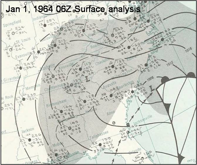 Huntsville Weather Map.New Year S Snowstorm 1964