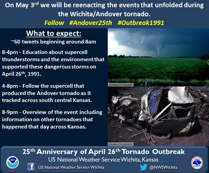 25th Anniversary of the Andover Tornado - Live Tweet Recap