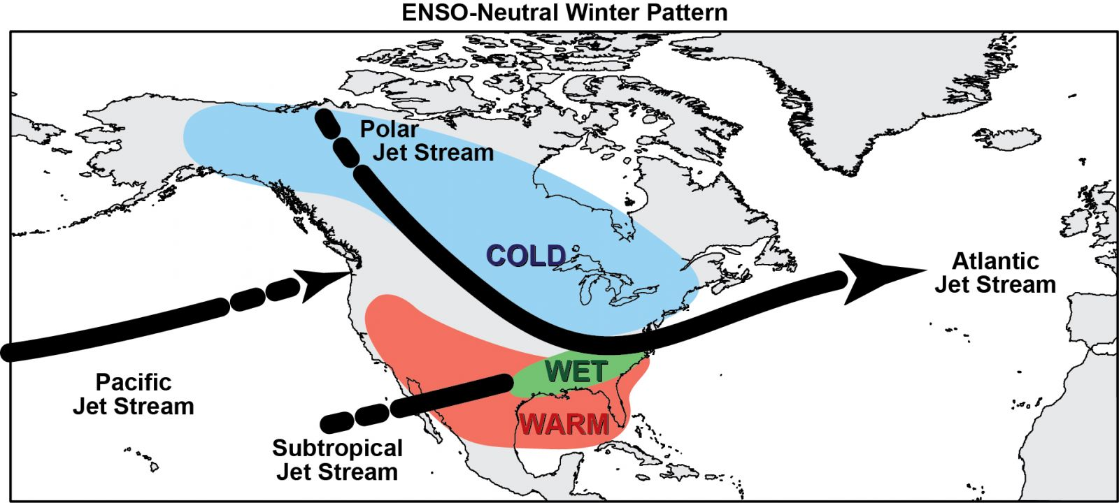 What Is ENSO - Us weather map with jet stream